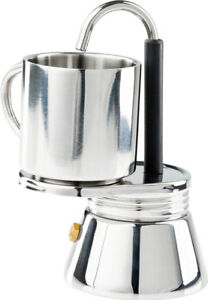 GSI Outdoors 1 Cup Stainless Mini Campstove Espresso Maker Set 65102