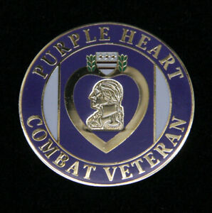 PURPLE HEART COMBAT WOUNDED VETERAN HAT PIN US ARMY MARINES NAVY AIR FORCE USCG