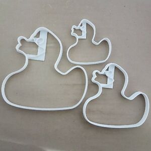 Rubber Duck Bath Wash Shape Cookie Cutter Dough Biscuit Pastry Fondant Stamp