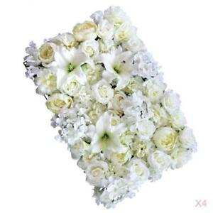 4pcs Artificial Flower Wall Panels for Wedding Party Photo Prop 60 x 40cm