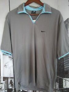 vintage Andre Agassi Nike Polo sport shirt short sleeve Gray Men's size US M