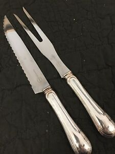 Beautiful Sheratarr Italy  Silverplated Cutlery Set Carving Knife ForK