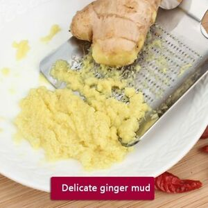 Hand Held Ginger Garlic Wasabi Grater Crusher Grate Press Chopper Cutter Steel
