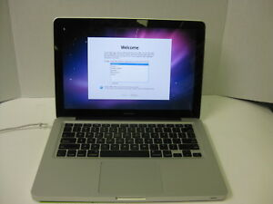 Apple MacBook A1278 C2D P8600  2.4GHz 250GB 4GB Snow Leopard MB467LLA 2009