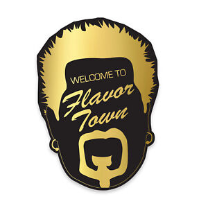 Welcome to Flavor Town sticker - Guy Fieri Food TV Diners Drive-ins Dives