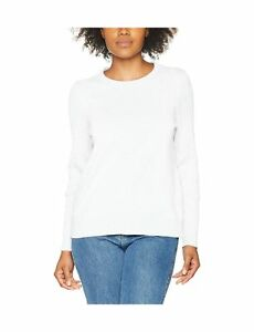 Gant Women's Sporty Stretch Cotton Cable Crew Jumper White .