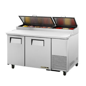 True TPP-60 Pizza Prep Table for 8 Pans - Two Door 60