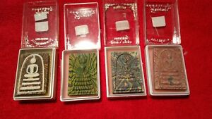 4 Thailand Buddha Amulets Produced by Well Known Monk Luang Phor Pae