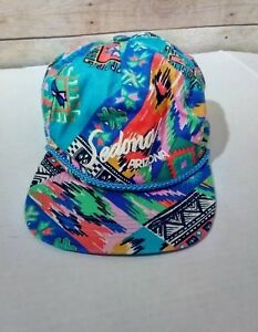 Vintage 80's Colorful Arizona Tropical Aztec Theme Trucker Snapback Hat