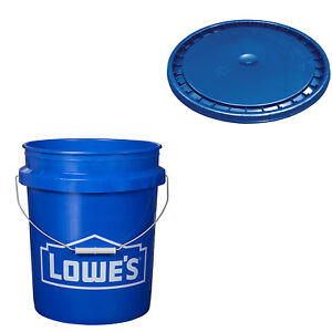 5 GALLON BUCKET OR LID Commercial Durable All Purpose Plastic Paint Storage