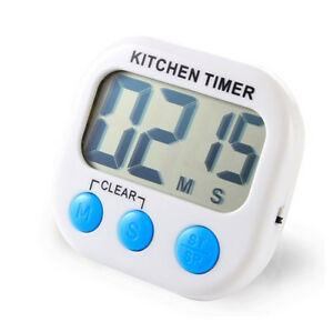 2 Pack Digital Kitchen Timer Magnetic LCD Count Down Time Loud Alarm T2