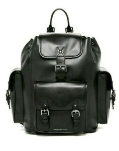 New $598 Marc by Marc Jacobs Amos Black Leather Men's Large Backpack