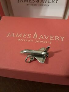 James Avery NASA Space Shuttle Charm 925 Sterling Silver