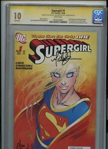 CGC 10 Signature Series Supergirl #1 Signed by Micheal Turner & Churchill