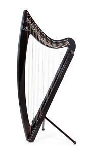 Camac DHC Blue Light 32 string Electro Harp in Black + Camac Harp Padded Bag