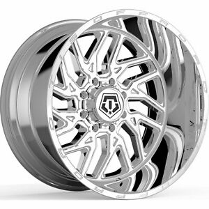 22x12 PVD Chrome 544V 8x180 -44 Rims Open Country AT II LT32550R22 Tires