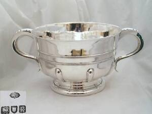 RARE EDWARDIAN HM STERLING SILVER PUNCH BOWL 1905 58 oz
