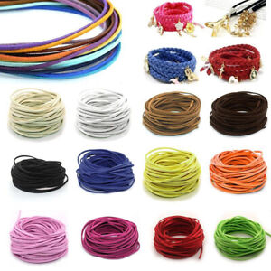 100mm Suede Leather String Jewelry Making Bracelet DIY Thread Cord Braided Rope C $0.99