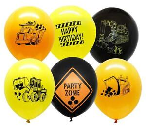Construction Party Supplies - 30 Themed Balloons - 12