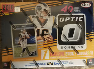 2018 DONRUSS OPTIC FOOTBALL MEGA BOX FACTORY SEALED BRONZE AUTOGRAPH