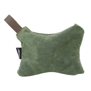Armageddon X-Wing Large Enhanced Rear Bag - Waxed Canvas with Leather Loop Green