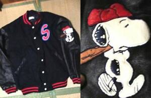 Snoopy Universal Studio Japan USJ Limited Stadium Jacket L size Peanut