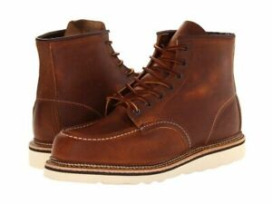 RED WING COPPER ROUGH amp; TOUGH LEATHER CLASSIC MOC LACE UP MENs BOOTS 1907 BROWN