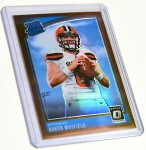2018 Donruss Optic Baker Mayfield RATED ROOKIE BRONZE SSP NON AUTO PRIZM Browns