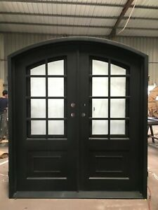 Priced to Sell & Ready to Ship! Custom Wrought Iron Double Door 72