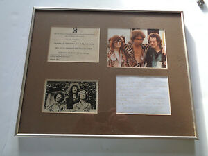 JIMI HENDRIX EXP NOEL REDDING FRAMED AUTOGRAPH LETTERPHOTOGRAPHINVITE DISPLAY
