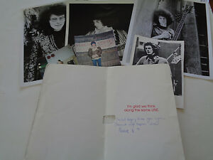 JIMI HENDRIX EXP NOEL REDDING AUTOGRAPH   SIGNED LETTERS AND RARE PHOTOGRAPHS