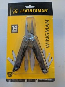 Leatherman (831425) Wingman Multi-Tool w Sheath Silver 14 Tools