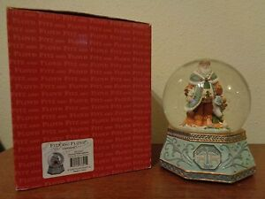 Fitz & Floyd Clairmont Musical Snow Water Globe We Wish You A Merry Christmas WB
