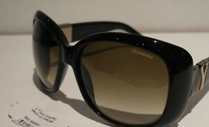 YSL Sunglasses Women Black wSilver & Goldtone Hardware wGray Marble Design