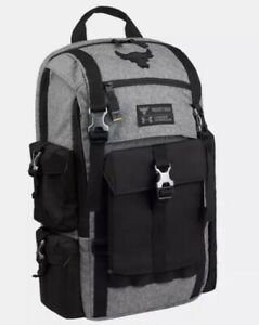 New Under Armour Project Rock Regiment Backpack Bag In Gray - Rare Edition