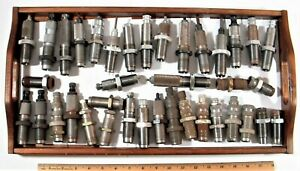 LARGE LOT OF 52 RIFLE RELOADING DIES - DILLON RCBS LEE CH BRANDS