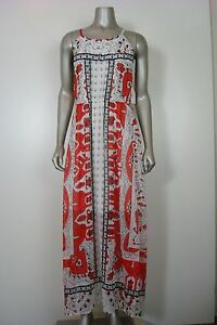 Made for Impulse Women's Maxi Dress Red Scarf Design L