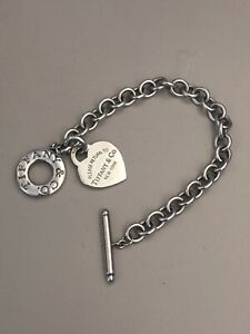 Tiffany & Co. Heart Tag Toggle Bracelet Sterling Silver