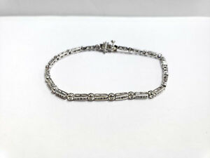 Etate 10k White Gold Round Brilliant Diamond 34tw Tennis Bracelet