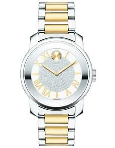 Movado Womens BOLD Luxe Watch - Crystal Pave Dial - Two-Tone - Bracelet