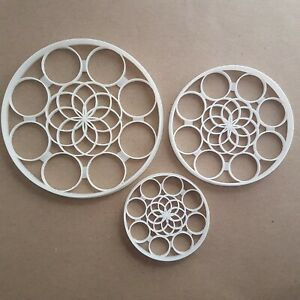 Pattern Circle Repeat Shape Cookie Cutter Dough Biscuit Pastry Fondant Stamp