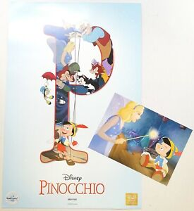 New Disney D23 Expo Member Exclusive Pinocchio Lithograph Art Print LE 1500