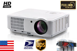 4000 Lumens Home Theater 4K Projector 3D 1080P FULL HD Movie Projector USB HDMI