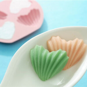 4 Holes Love Heart 3D Shape Non-Stick Silicone Cake Mold DIY Baking Tool -WT26