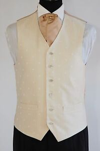 Men's and Boy's Wedding Waistcoats In Biscuit and Ivory