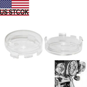 2x Turn Signal Light Clear Lens ABS Cover fit for Harley Touring Road King 86-14