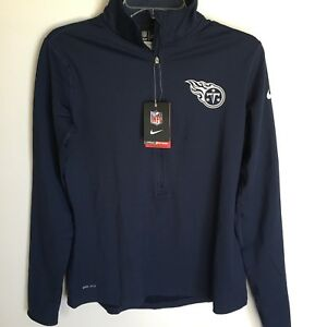 Tennessee Titans Nike Dri Fit Pullover Half Zip Shirt Jacket Size Large Women's