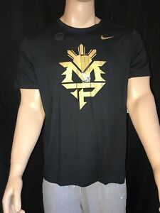 Nike Manny Pacquiao MP Team Philippines Boxing Shirt Size XL Dri-fit Black Gold
