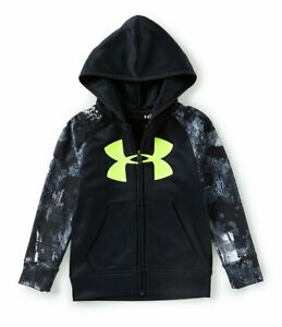 Under Armour Boys Bedrock Camo Zip Up Hoodie Size 2T Color Black $24.76