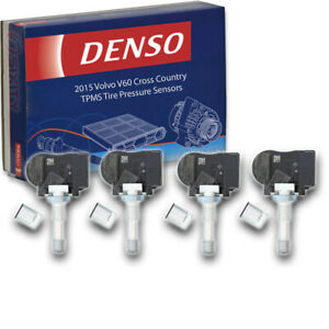 4 pc Denso TPMS Tire Pressure Sensors for Volvo V60 Cross Country 2015 oq